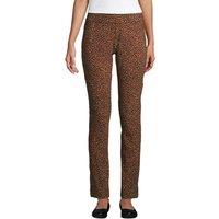 Starfish Slim Leg Trousers, Women, Size: 10-12 Regular, Brown, Spandex, by Lands' End