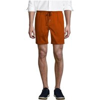 Chino Shorts with Elastic Waist, Men, Size: 28-30 Regular, Tan, Cotton, by Lands' End