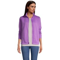 Water-Repellent Quilted Fleece Jacket, Women, Size: 16-18 Regular, Purple, Cotton-blend, by Lands' E