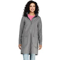 Waterproof Raincoat with Stretch, Women, Size: 8 Regular, Grey, Polyester, by Lands' End