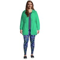 Packable Raincoat, Women, Size: 28-30 Plus, Green, Polyester, by Lands' End