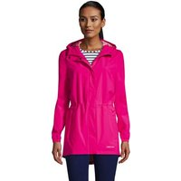 Packable Raincoat, Women, Size: 10-12 Regular, Pink, Polyester, by Lands' End