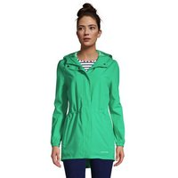 Packable Raincoat, Women, Size: 10-12 Regular, Green, Polyester, by Lands' End