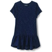 Rainbow Sprinkles Peplum Tunic Top, Kids, Size: 10-12 yrs Girl, Blue, Cotton-blend, by Lands' End.