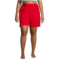 9ins Board Shorts - with Swim Briefs, Women, Size: 26 Plus, Red, Poly-blend, by Lands' End