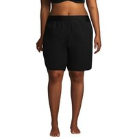9ins Board Shorts - with Swim Briefs, Women, Size: 22 Plus, Black, Poly-blend, by Lands' End