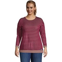 Three-Quarter Sleeve Reversible Jersey Top, Women, Size: 28-30 Plus, Red, Rayon-blend, by Lands' End