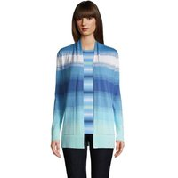 Long Sleeve Open Cardigan, Women, Size: 20 Regular, Blue, Cotton, by Lands' End