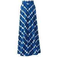 Cotton-modal Jersey Maxi Skirt in Stripe, Women, Size: 14-16 Regular, Blue, by Lands' End
