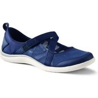 Mary Jane Water Shoes, Women, Size: 7.5 Regular, Blue, Polyester, by Lands' End