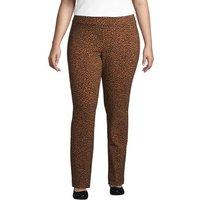 Starfish Slim Leg Trousers, Women, Size: 24-26 Plus, Brown, Spandex, by Lands' End