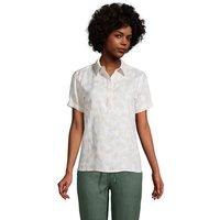 Linen Popover Shirt, Women, Size: 20 Regular, Tan, by Lands' End