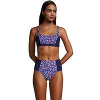 Draper James Square Neck Bralette Bikini Top, Women, Size: 16 Regular, Blue, Nylon-blend, by Lands'