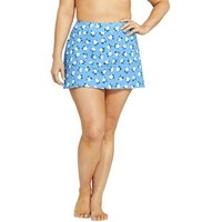 Draper James Swim Skirt, Women, Size: 20 Plus, Blue, Nylon-blend, by Lands' End