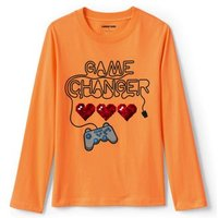 Flip Sequin Graphic T-Shirt, Kids, Size: 12-13 years Boy, Cotton, by Lands'End, Flip Video Game