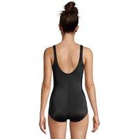 Chlorine Resistant Tugless Swimsuit, Women, Size: 8 Regular, Green, Nylon-blend, by Lands' End