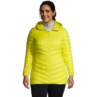 Ultra Light Packable Down Jacket with Hood, Women, Size: 24-26 Plus, Green, by Lands' End