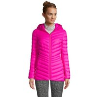 Ultra Light Packable Down Jacket with Hood, Women, Size: 14-16 Petite, Pink, by Lands' End