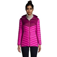 Ultra Light Packable Down Jacket with Hood, Women, Size: 10-12 Regular, Red, by Lands' End