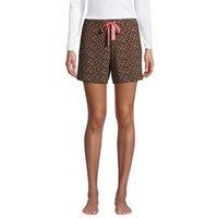 Lounge Tie Waist Pyjama Shorts, Women, Size: 16-18 Regular, Green, Spandex, by Lands' End