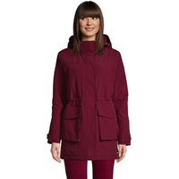 Squall Winter Parka Coat with Hood, Women, Size: 10-12 Petite, Red, Polyester, by Lands' End.