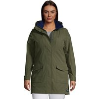 Squall Raincoat, Women, Size: 28-30 Plus, Green, Nylon, by Lands' End