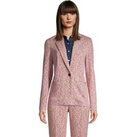 Jacquard Sport Knit Blazer, Women, Size: 16-18 Regular, Orange, Spandex, by Lands' End