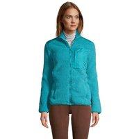 Cosy Sherpa Fleece Jacket, Women, Size: 8 Regular, Blue, Polyester, by Lands' End