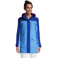 Squall Raincoat, Women, Size: 10-12 Regular, Blue, Nylon, by Lands' End