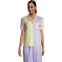 Short Sleeve Cotton Poplin Pyjama Shirt, Women, Size: 16-18 Regular, by Lands' End