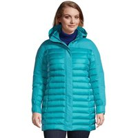 Squall & Down Hybrid Winter Coat, Women, Size: 28-30 Plus, Blue, by Lands' End
