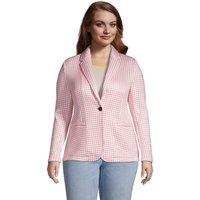 Sweater Fleece Blazer, Women, Size: 28-30 Plus, Pink, Polyester, by Lands' End