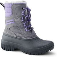 Expedition Insulated Winter Snow Boots, Kids, Size: 11 Boy, Grey, Nylon, by Lands'End, Dark Cameo Grey.