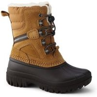 Expedition Insulated Winter Snow Boots, Kids, Size: 13 Boy, Brown, Nylon, by Lands' End