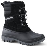 Expedition Insulated Winter Snow Boots, Kids, Size: 10 Boy, Black, Nylon, by Lands' End.