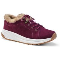 Comfort Cosy Trainers, Women, Size: 7.5 Wide, Red, Leather, by Lands' End