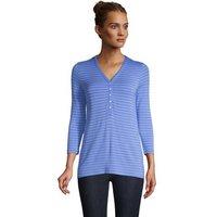 Super Soft Henley Top, Women, Size: 20 Regular, Blue, Rayon-blend, by Lands' End