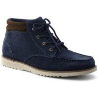 Comfort Leather Chukka Boots, Men, Size: 9 Regular, Blue, by Lands' End