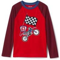 Long Sleeve Flip Sequin Graphic T-Shirt, Kids, Size: 12-13 years Boy, Cotton, by Lands'End, Flip Mot