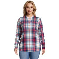 Long Sleeve Flannel Popover Tunic, Women, Size: 28-30 Plus, Cotton, by Lands' End
