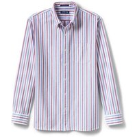 Sail Rigger Oxford Shirt, Traditional Fit, Men, Size: 46-48 Regular, Purple, Cotton, by Lands' End