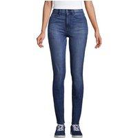 High Waisted Lift & Sculpt Skinny Jeans, Women, Size: 14 34 Regular, Blue, Cotton, by Lands' End