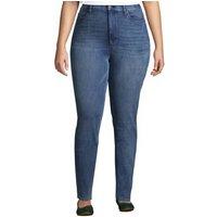 High Waisted Lift & Sculpt Skinny Jeans, Women, Size: 22/28 Plus, Blue, Cotton, by Lands' End