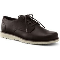 Comfort Casual Lace-up Shoes, Men, Size: 10 Regular, Brown, Suede, by Lands'End, True Brown Leather