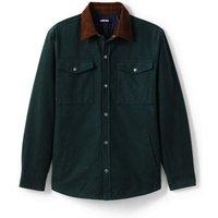 Moleskin Shirt Jacket, Men, Size: 34 - 36 Regular, Green, Cotton, by Lands' End