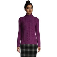 Cosy Lofty Bobble Roll Neck Jumper, Women, Size: 20 Regular, Purple, Cotton-blend, by Lands' End