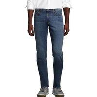4 Way Stretch Jeans, Slim Fit, Men, Size: 42 32 Regular, Blue, Cotton-blend, by Lands' End