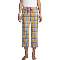 Cotton Cropped Poplin Pyjama Bottoms, Women, Size: 14-16 Regular, Multi, by Lands' End