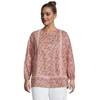 Cotton Split Neck Tunic Top, Women, Size: 28-30 Plus, Pink, by Lands' End