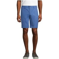 Performance Chino Shorts, Men, Size: 34 Regular, Blue, Polyester, by Lands' End